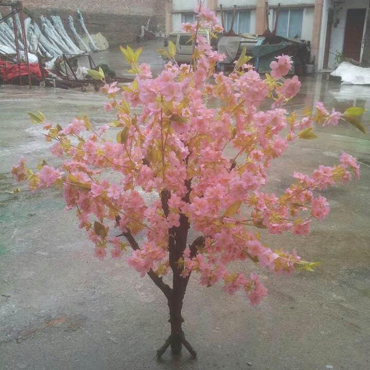 Lifelike Mini Cherry Flower Tree
