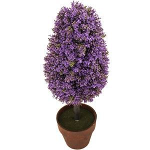 Purple Artificial Topiary Tree