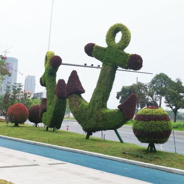 Artificial Geometric Green Animal Landscaping Sculpture