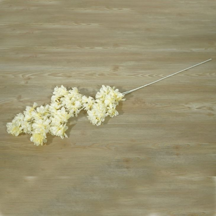Artificial Pure Pink White Champagne Flower Branch