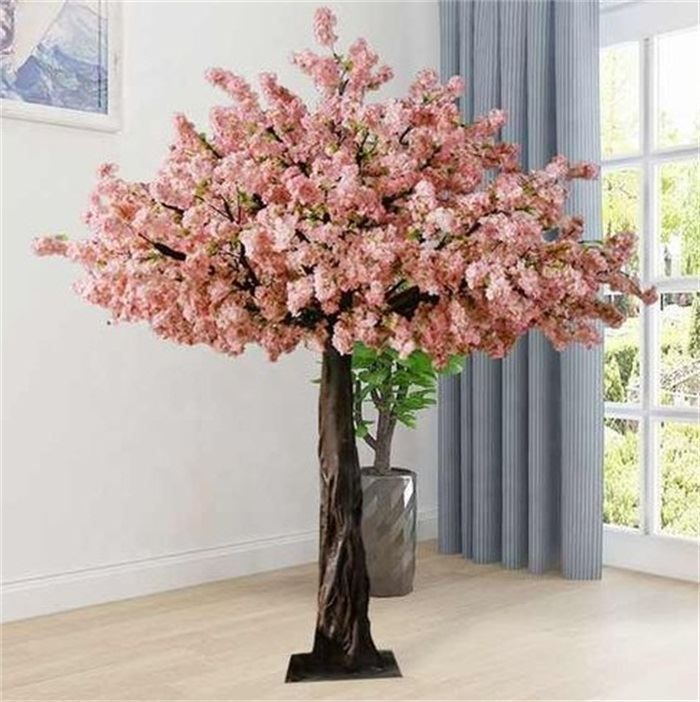 Big Artificial Flowering Tree For Wedding Decoration